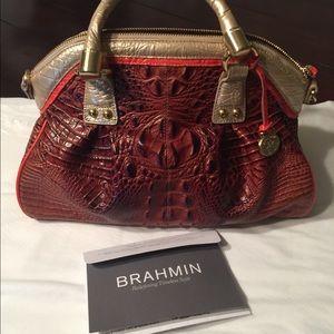 👜Brahmin Lisa Fizz Tri Color hand bag. Excellent!